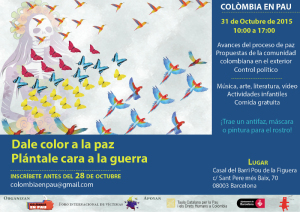 cartel de Colombia en Pau